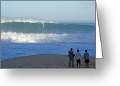 Kevin W .smith Greeting Cards - Banzai Beach Hawaii Greeting Card by Kevin Smith