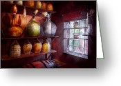 Jugs Greeting Cards - Bar - Bottles - Check out these BIG Jugs  Greeting Card by Mike Savad