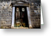 Weathered Greeting Cards - Bar across the door Greeting Card by Bob Orsillo