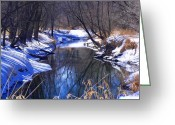 Baraboo Greeting Cards - Baraboo River Greeting Card by Dave Dresser