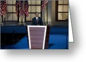Hussein Greeting Cards - Barack Obama, 2008 Greeting Card by Granger