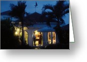 Weathervane Greeting Cards - Barbados Villa Greeting Card by Carl Purcell