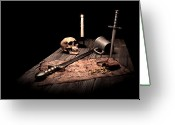 Weapon Photo Greeting Cards - Barbarian Quest Greeting Card by Tom Mc Nemar