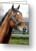 Churchill Downs Greeting Cards - Barbaro at Churchill Downs Greeting Card by Thomas Allen Pauly