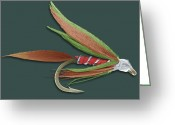 Anglers Greeting Cards - Barbed Fishing Fly, Sem Greeting Card by Steve Gschmeissner
