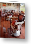 Thank You Greeting Cards - Barber - Please have a seat Greeting Card by Mike Savad