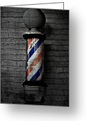 Most Greeting Cards - Barber Pole Blues  Greeting Card by Jerry Cordeiro