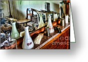 Found Greeting Cards - Barber - The Barbers Counter Greeting Card by Paul Ward