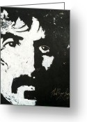 Live Music Greeting Cards - Barbosa Paints Zappa Greeting Card by Neal Barbosa