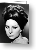 1960s Fashion Greeting Cards - BARBRA STREISAND (b.1942) Greeting Card by Granger