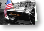 Flag Pyrography Greeting Cards - Barchetta Greeting Card by Russell Todd