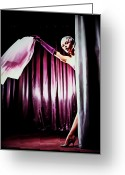 Striptease Greeting Cards - Bardot Greeting Card by Mary Morawska