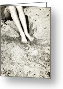 Young Teen Greeting Cards - Barefoot In The Sand Greeting Card by Joana Kruse