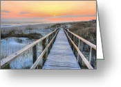 Sea Scape  Greeting Cards - Barefoot Greeting Card by JC Findley