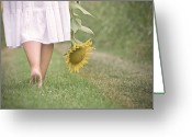 One Person Photo Greeting Cards - Barefoot Summertime Greeting Card by Marta Nardini