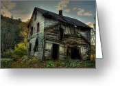 Dilapidated Greeting Cards - Barely Standing Greeting Card by Lori Deiter