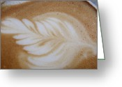 Barista Greeting Cards - Barista Impressionism Greeting Card by JAMART Photography