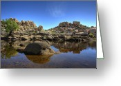 Dam Greeting Cards - Barkers Dam Reservoir Greeting Card by Peter Tellone