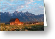 Grand Tetons Greeting Cards - Barn 2 Greeting Card by Vijay Sharon Govender
