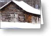 Virginia Winter Greeting Cards - Barn along Coon Creek Road Greeting Card by Thomas R Fletcher