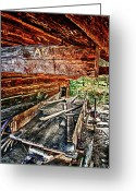 Tenn Greeting Cards - Barn And Wagon 2a Greeting Card by Dennis Sullivan