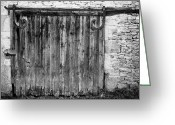 Door Hinges Greeting Cards - Barn Door Greeting Card by Georgia Fowler