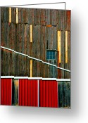 Abstract Building Greeting Cards - Barn Graphics Greeting Card by Steven Ainsworth