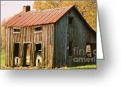 Barns In Indiana Greeting Cards - Barn in Indiana Greeting Card by Maria Maturana