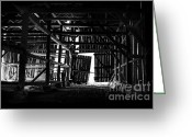 Western Massachusetts Greeting Cards - Barn Interior Greeting Card by HD Connelly
