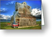 Spokane Greeting Cards - Barn no.3 Greeting Card by Niels Nielsen