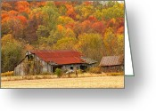 Nestled In Greeting Cards - Barn on McNary Rd rt.41 Greeting Card by Randall Branham