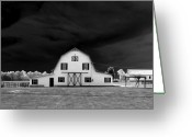 Old Greeting Cards - Barn storm Greeting Card by Julian Bralley