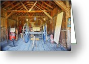 Old Relics Greeting Cards - Barn Treasures 2 Greeting Card by Cheryl Young