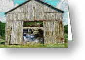 Bedroom Art Greeting Cards - Barn Treasures Greeting Card by Cheryl Young