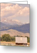 The Lightning Man Greeting Cards - Barn with a Rocky Mountain View  Greeting Card by James Bo Insogna