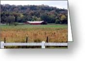 Kay Sawyer Greeting Cards - Barn Yard Fences Greeting Card by Kay Sawyer