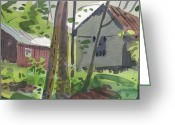 Shed Greeting Cards - Barns 12 Greeting Card by Donald Maier