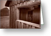 Old West Greeting Cards - Barns Grand Tetons Greeting Card by Steve Gadomski