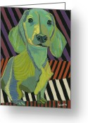 Doodle Do Arts Greeting Cards - Baron in Living Color Greeting Card by David  Hearn