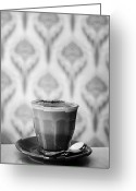 Cup Photo Greeting Cards - Baroque Coffee Greeting Card by Helen Yin