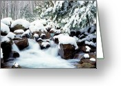 Wv Greeting Cards - Barrenshe Run in Winter Greeting Card by Thomas R Fletcher