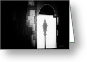 Street Light Greeting Cards - Barristers Window Greeting Card by Bob Orsillo