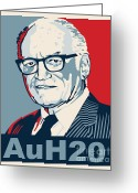 Conservative Greeting Cards - Barry Goldwater Greeting Card by John L