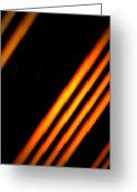 Abstract   Framed Prints Greeting Cards - Bars And Oranges Greeting Card by Jerry Cordeiro