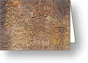 1100s Greeting Cards - Bas-relief Greeting Card by Bjorn Svensson