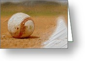 Baseball Paint Greeting Cards - Baseball - American Pastime Greeting Card by Woolman Brothers