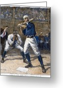 Umpire Greeting Cards - Baseball, 1888 Greeting Card by Granger