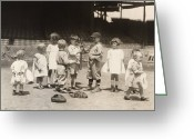 Glove Greeting Cards - Baseball: Boys And Girls Greeting Card by Granger