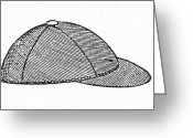 Baseball Cap Greeting Cards - BASEBALL CAP, c1900 Greeting Card by Granger