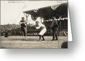 Glove Greeting Cards - Baseball Game, 1909 Greeting Card by Granger